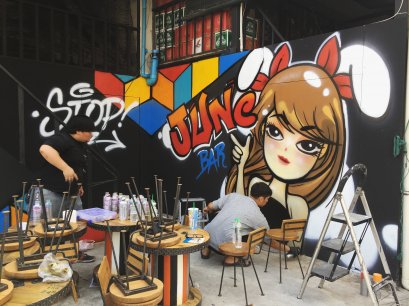 "๋ี""June Bar"" Graffiti Painting"