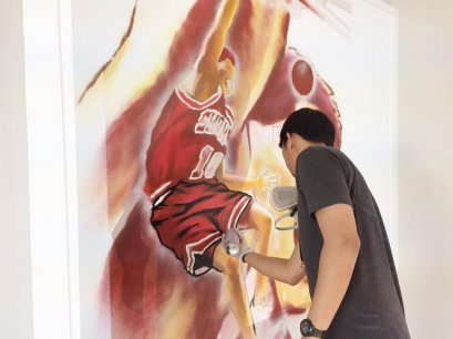 """Slam Dunk"" Interior wall painting"