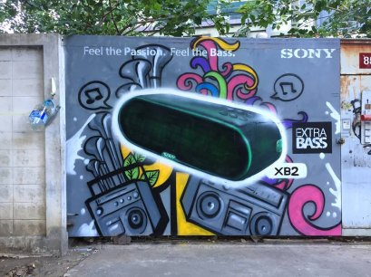 """Sony"" Graffiti Advertising"