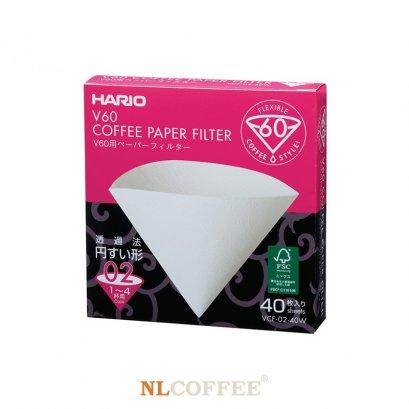 กระดาษกรอง HARIO V60 Paper Filter White 02 (1 กล่อง/40 แผ่น)