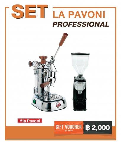 เครื่องชงกาแฟ LA PAVONI : PROFESSIONAL (PLH) + เครื่องบดกาแฟ LD-210 OD