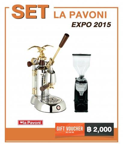 เครื่องชงกาแฟ LA PAVONI : EXPO2015 + เครื่องบดกาแฟ LD-210 OD