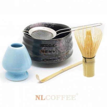 ถ้วยชงชามัทฉะ สีดำ