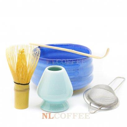 ถ้วยชงชามัทฉะ สีฟ้า