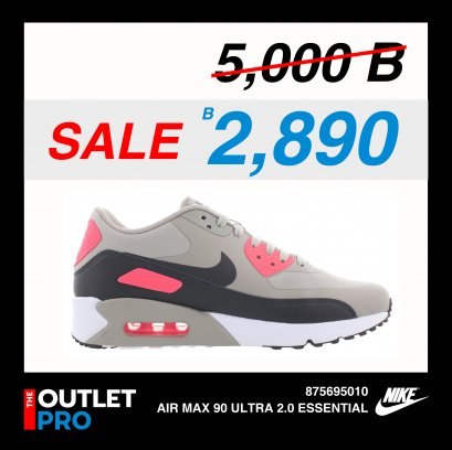 AIR MAX 90 ULTRA 2.0 ESSENTIAL - 875695010 (Anthracite-Solar Red-White)