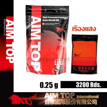 ลูกกระสุน AIMTOP Tracer RED  0.25g  3200 นัด made im taiwan