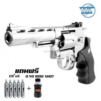 Wingun 701  4 นิ้ว CO2 Revolver SV กริ๊ปมือสีดำ