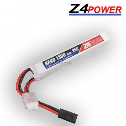 Z4Power 11.1V 1300 mAh 25C Li-po ใส่แกนพานท้าย