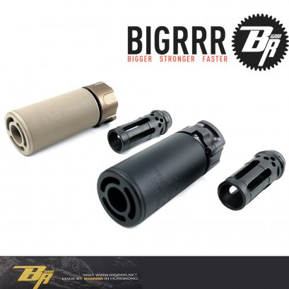 Bigrrr Tactical WARDEN Suppressor 3.5 นิ้ว & WARCOMP