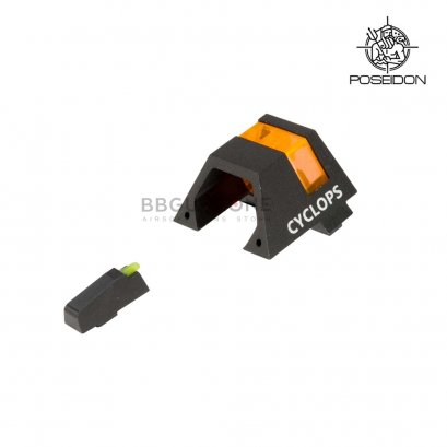Poseidon Cyclops Front and Rear Sight for GLOCK