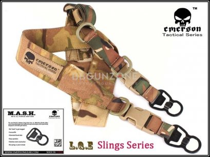 EmersonGear สายสะพายปืน L.Q.E. One+Two Point Slings Series EM8490