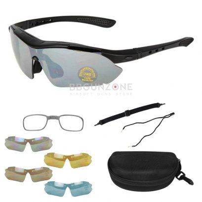 แว่นตากันกระสุนปืน Style Military Shoot Glass Set-Type B