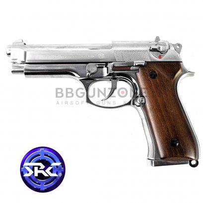 SRC Beretta M92 platinum กริ๊ปไม้แท้