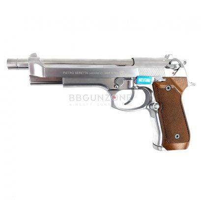 WE M92 Long Silver กริปลายไม้