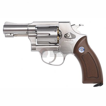 Gun Heaven Sheriff M36 2.5 นิ้ว CO2 Revolver SV (Brown Grip)