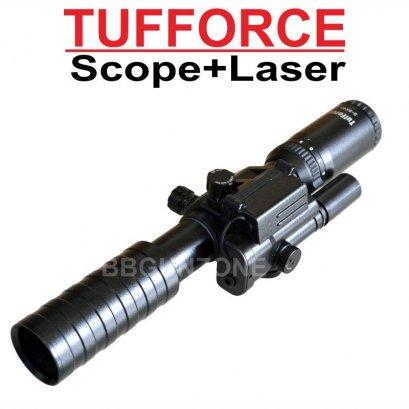 Tufforce สโคป โมจิ 3-9x40 + เลเซอร์แดง