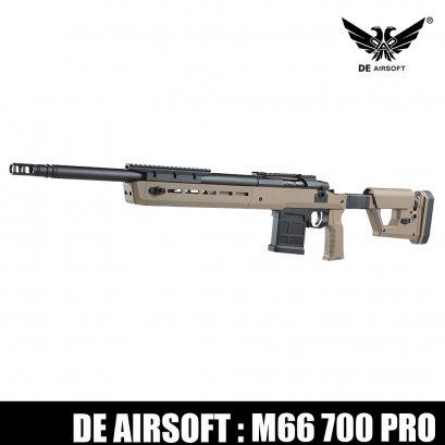 D.E. M66 Bolt Action 700 Pro TAN