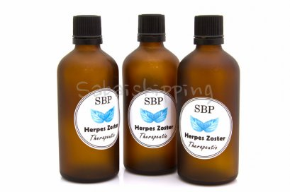 SBP BRAND GET RID OF SHINGLES ZOSTER THERAPEUTIC ONCE AND FOREVER SET 600 ML.
