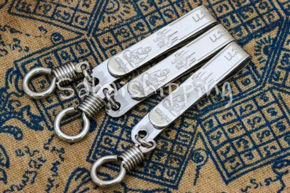 3X CLIP LP TUAD SOLID STAINLESS STEEL NECKLACE FOR THAI BUDDHA AMULET 1 HOOK