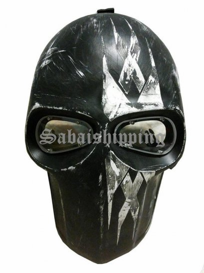 ARMY of TWO PAINTBALL AIRSOFT BB GUN PROP HELMET GOGGLE MASK Black Punisher 07