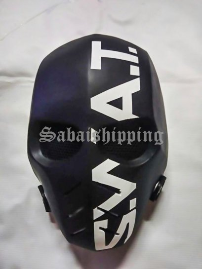 ARMY of TWO PAINTBALL AIRSOFT BB GUN PROP HELMET GOGGLE MASK Black Punisher 04