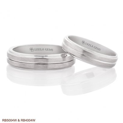 แหวนคู่ทองขาว 18K
