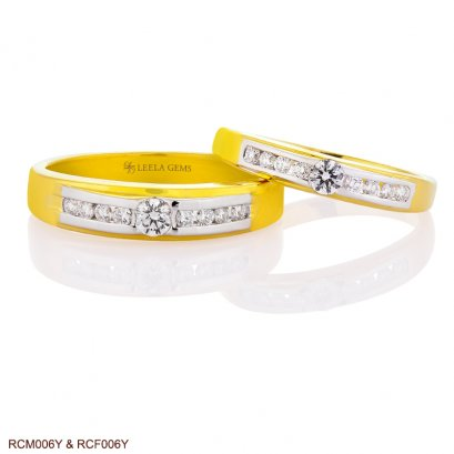 Couple Diamond Rings in 18K Gold
