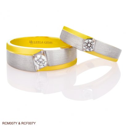 Couple Rings in 18K Two Tone Gold