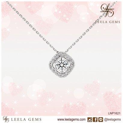 Diamond Pendant with white gold chain