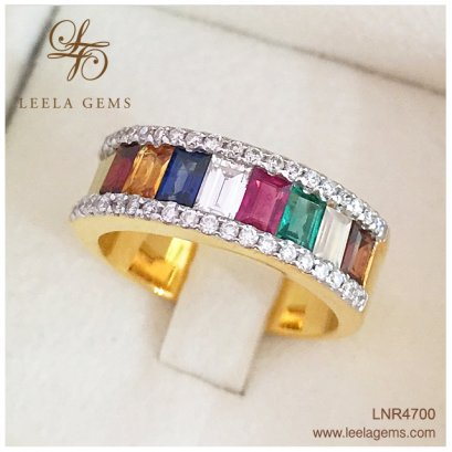 Lucky Gemstones Ring