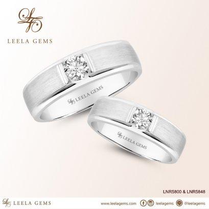 Couple Diamond Rings in 18K White Gold