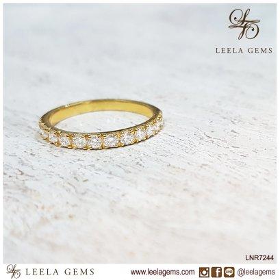 แหวนเพชรแถว ตัวเรือนทอง