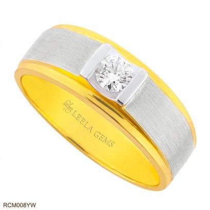 แหวนเพชรชาย ทอง 2 สี