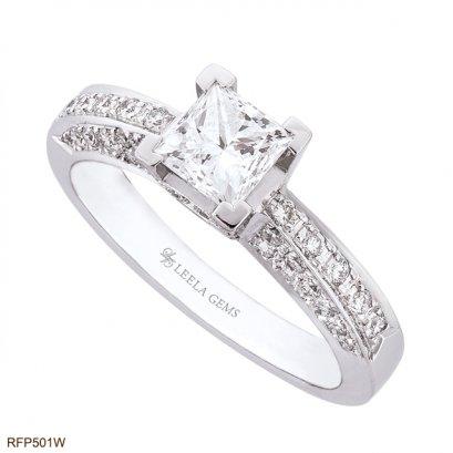 แหวนเพชรสี่เหลี่ยม Princess