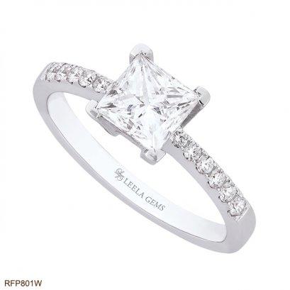 แหวนเพชร Princess cut