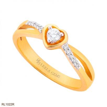 แหวนเพชรหัวใจ โรสโกลด์