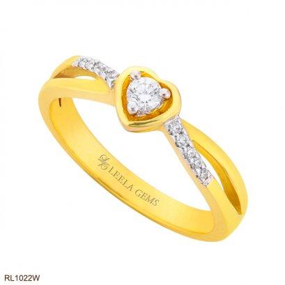 แหวนเพชรหัวใจ ทอง