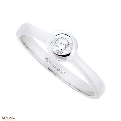 แหวนเพชรเม็ดเดียวฝังหุ้ม