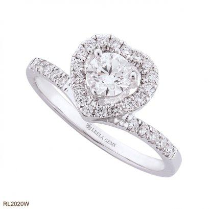 แหวนเพชรล้อมทรงหัวใจ
