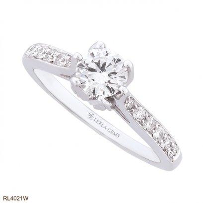 แหวนเพชรดอกทิวลิป