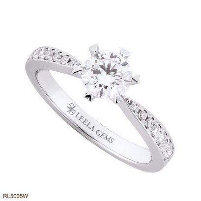 Heart-Prong Diamond Ring