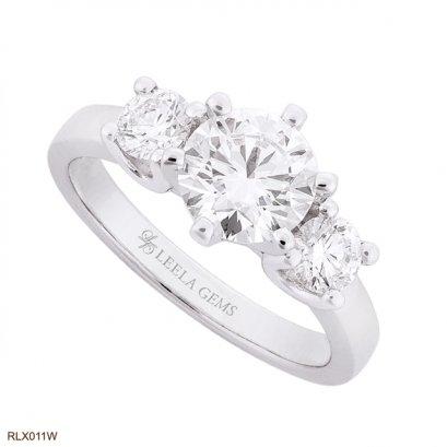 แหวนเพชร 3 เม็ด