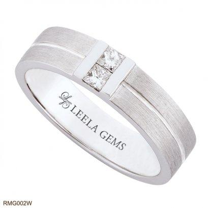แหวนชายเพชรสี่เหลี่ยม
