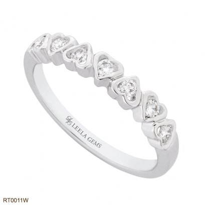 แหวนเพชรแถว ทรงหัวใจ