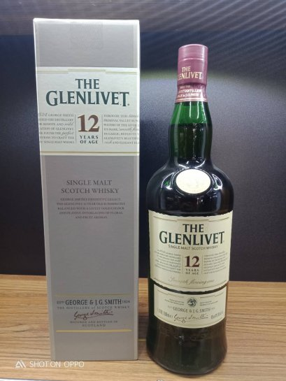 Glenlivet 12 Year Old (100cl, 40%)