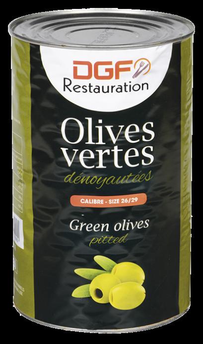 "Pitted Green Olive in brine ""DGF"" / มะกอกเขียวไม่มีเมล็ดในน้ำเกลือ ""ดีจีเอฟ"""