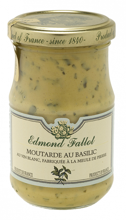 Basil Dijon Mustard 210 g - Edmond Fallot from France