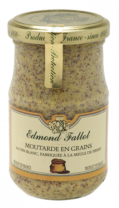 Mustard with Seeds 205 g - Edmond Fallot from France