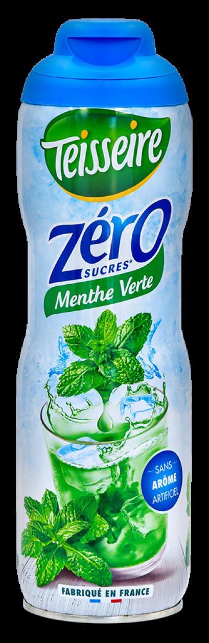 Teisseire Green Mint 0% Sugar syrup 60cl / ไซรัป เตสแซร์ กลิ่นกรีนมิ้นท์ สูตรไม่มีน้ำตาล