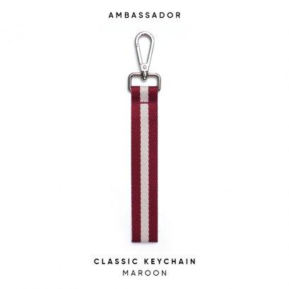 CLASSIC KEYCHAIN - MAROON